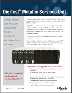Tollgrade DigiTest Metallic Services Unit